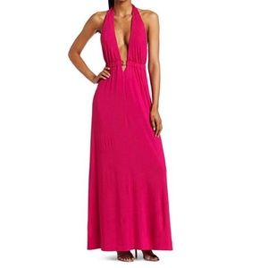 TRINA TURK Biscayne Long Halter Dress